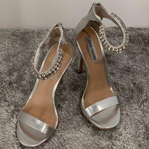 Steve Madden Dressy Silver Sandals